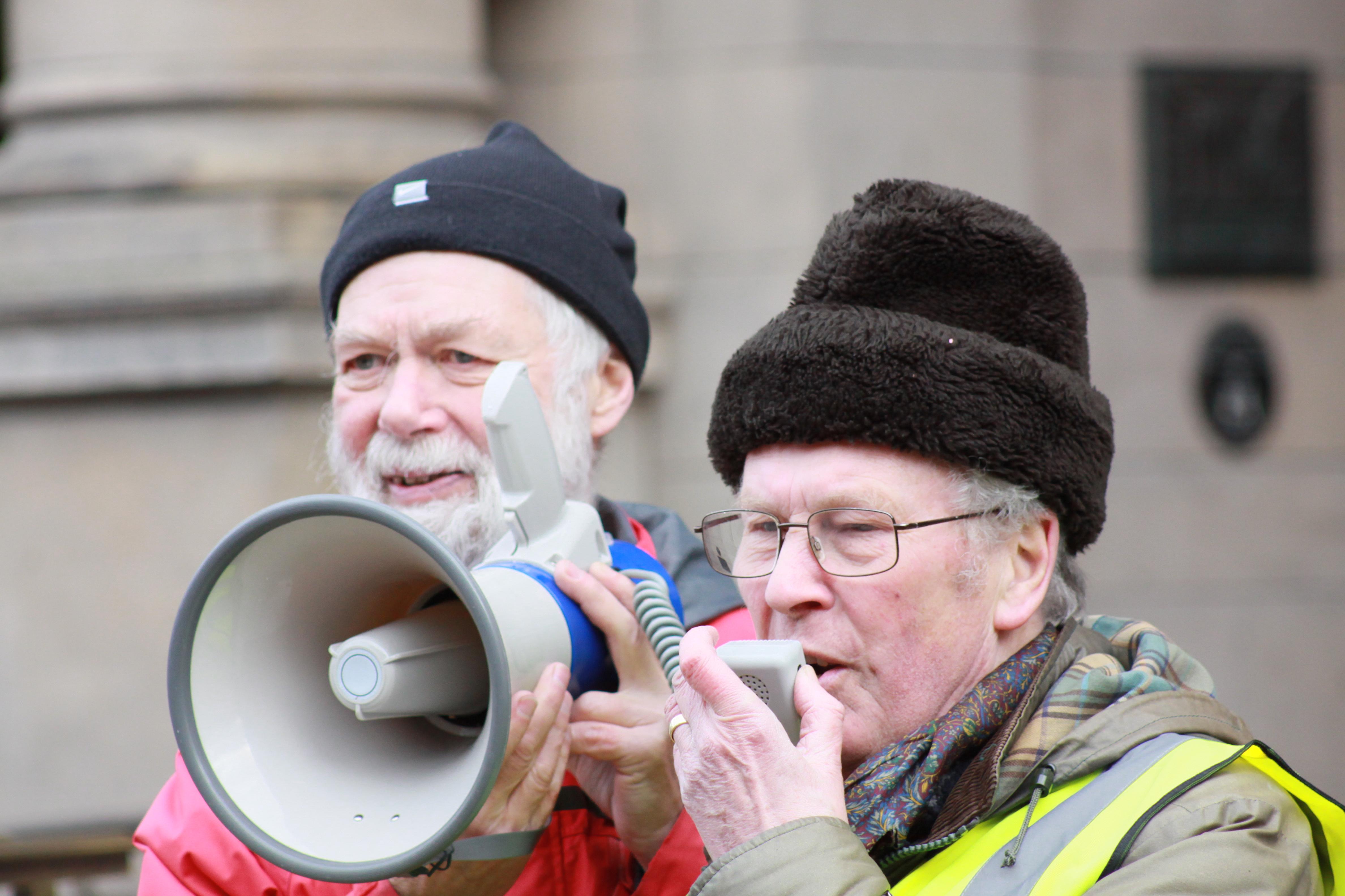 STOP Prison Guards Housing Asylum Seekers demonstration