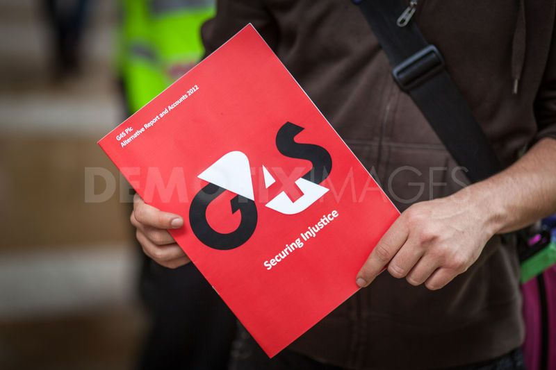 Don't Invest in G4S: Pension Fund Protest