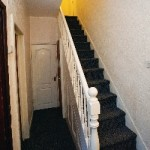 """A man on crutches was told to """"crawl up"""" these stairs in his G4S-house"""