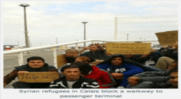 Syrian Refugees Protest at Calais