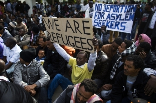 african-refugees protest israel
