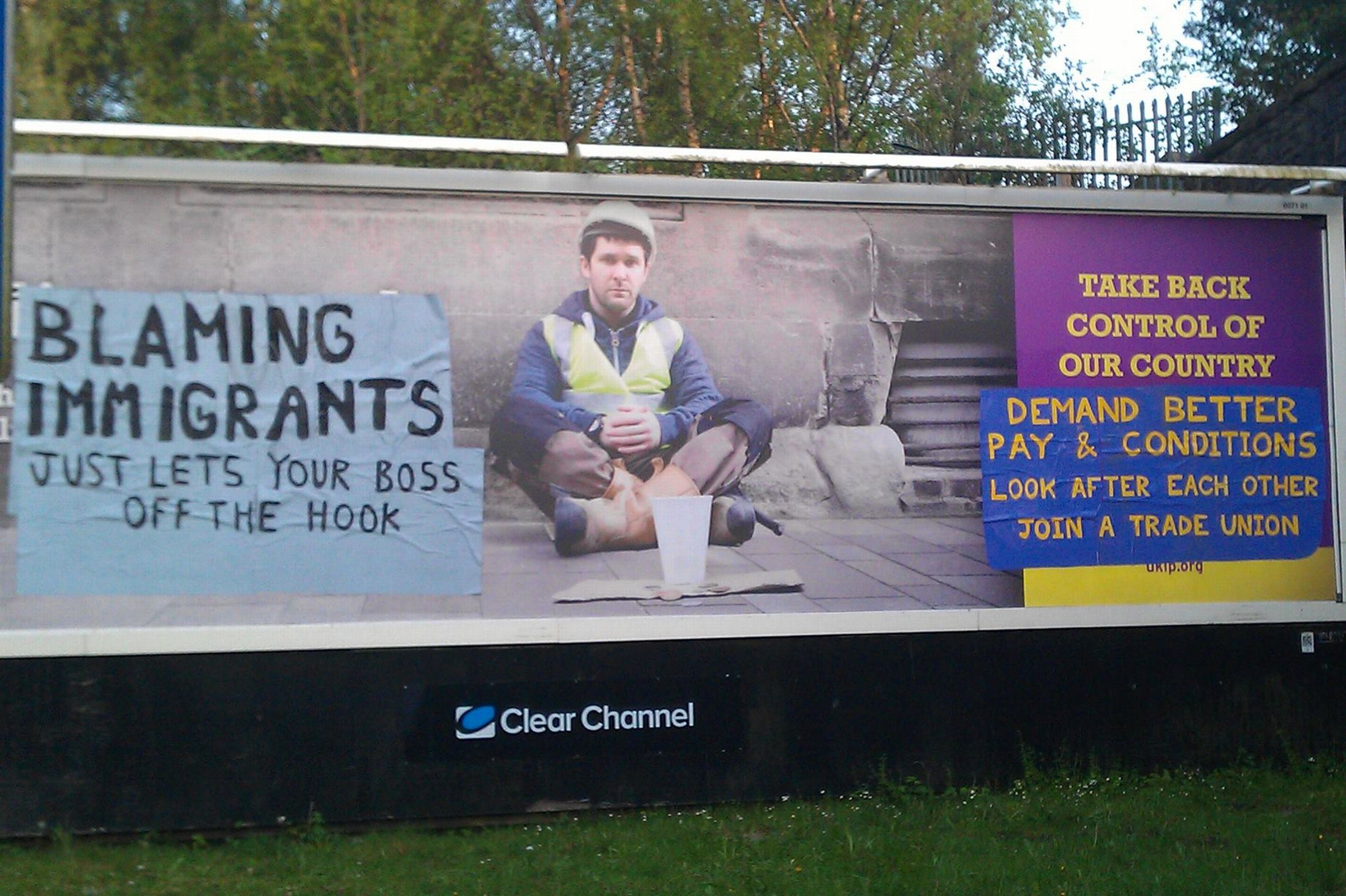 UKIP billboard art
