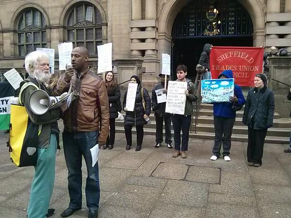 Eritrean speaker at Don't Let Them Drown protest in Sheffield, March 2015