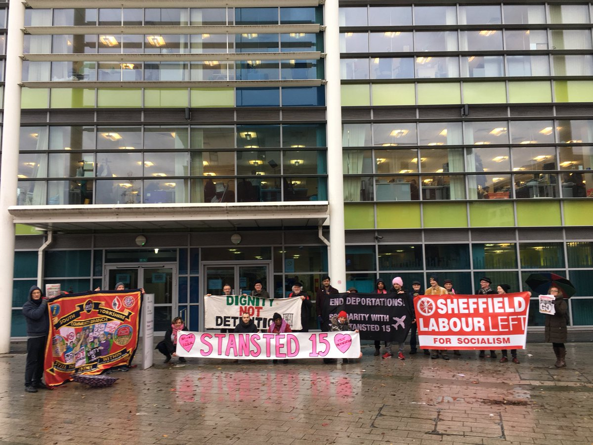 Sheffield Stands with the Stansted 15