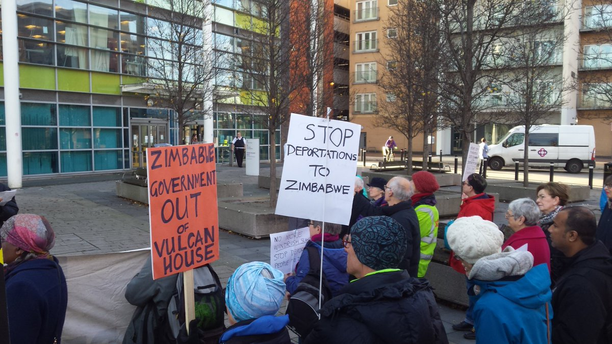 No Deportations to Zimbabwe – protest Tues 19th Feb 9am Vulcan House